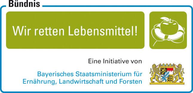 """Logo zum Bündnis """"Wir retten Lebensmittel"""""""